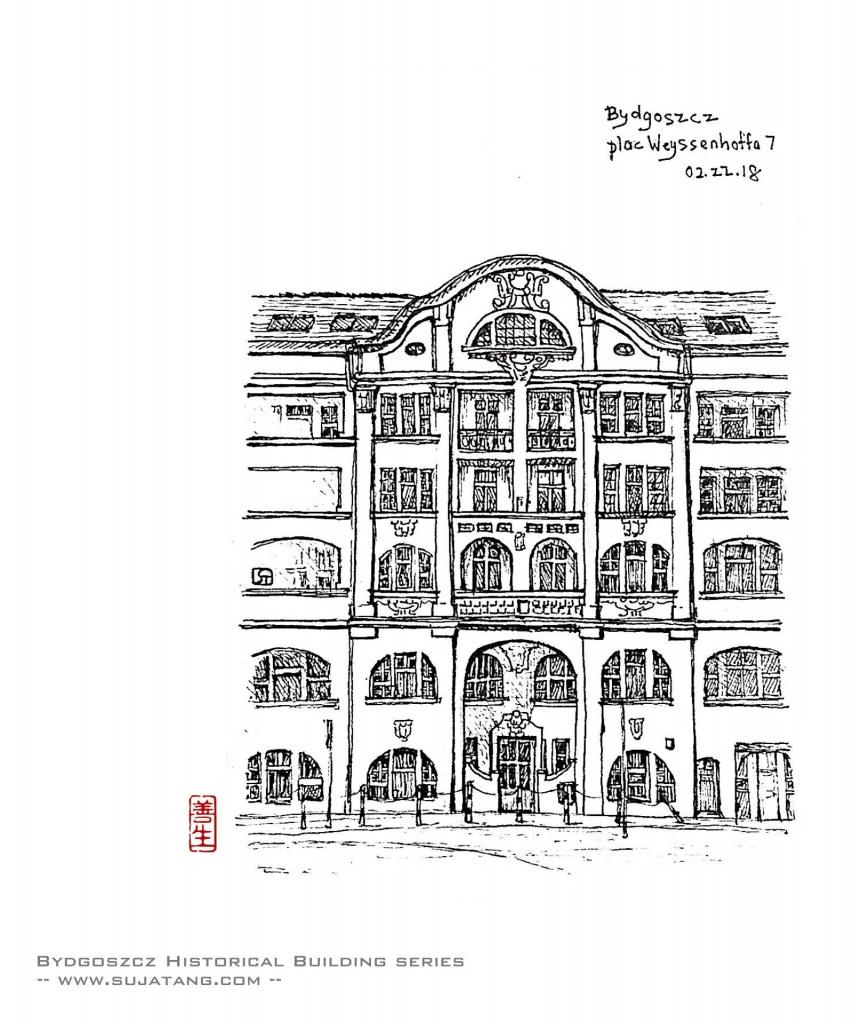 Bydgoszcz Historical Building Series #2. pl. Weyssenhoffa N°7