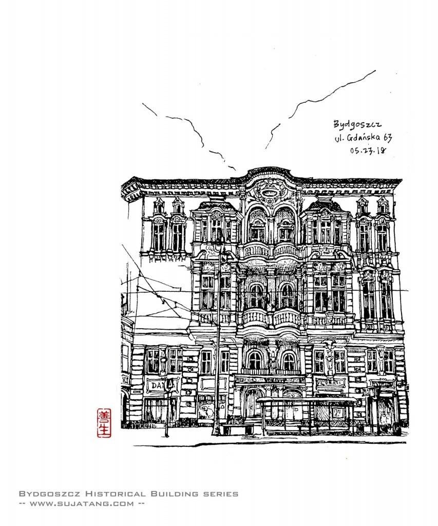 Bydgoszcz Historical Building Series #3. GdanskaN°63