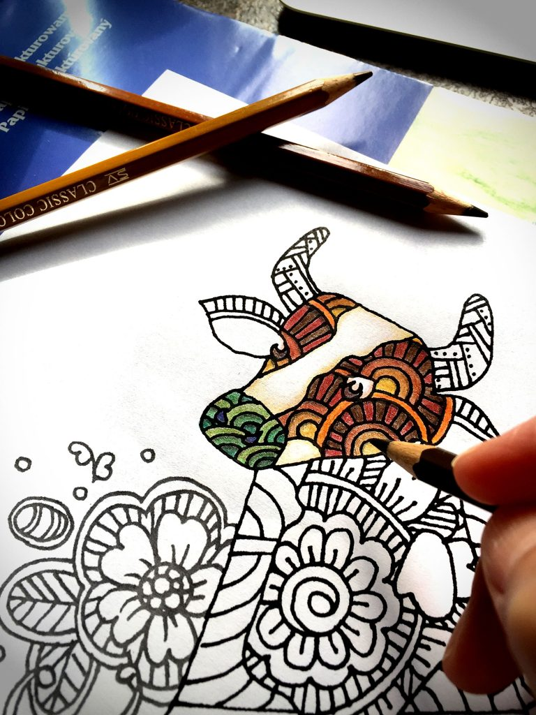 digital: Coloring - Cow