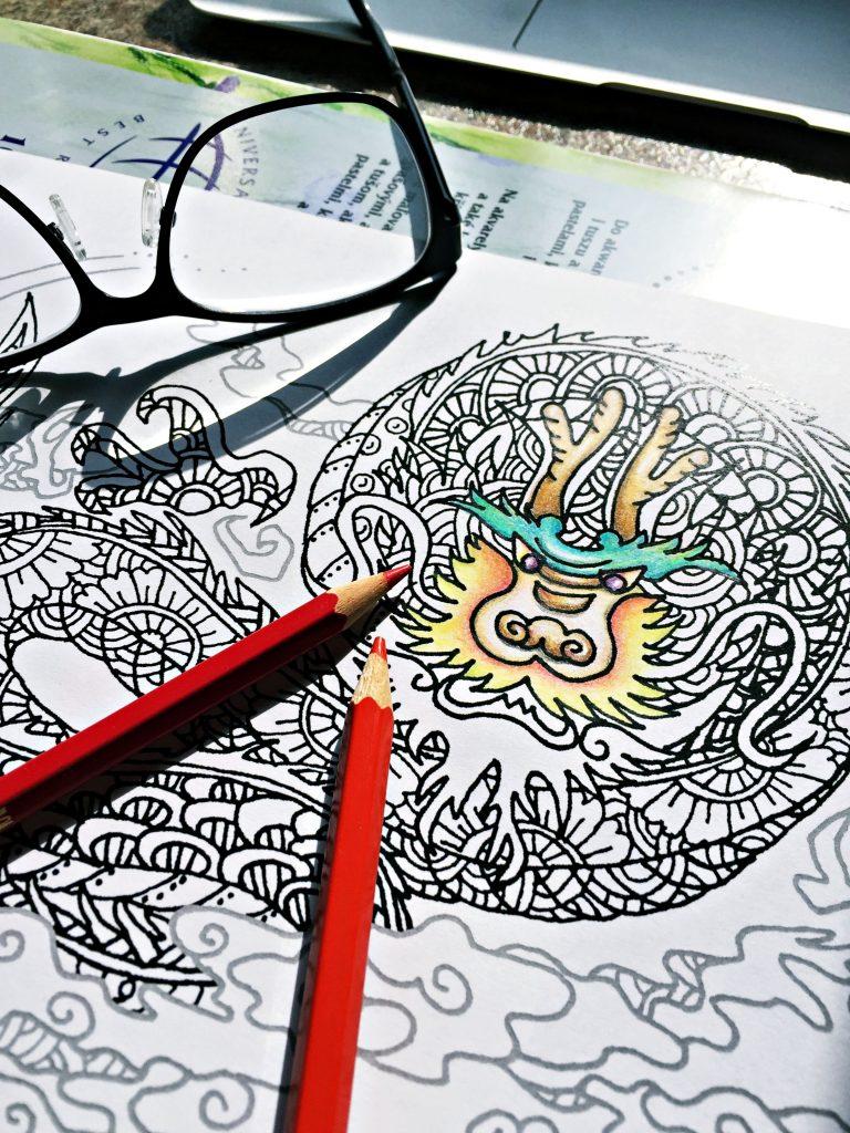digital: Coloring - Dragon
