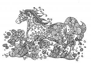 digital: Coloring - Horse