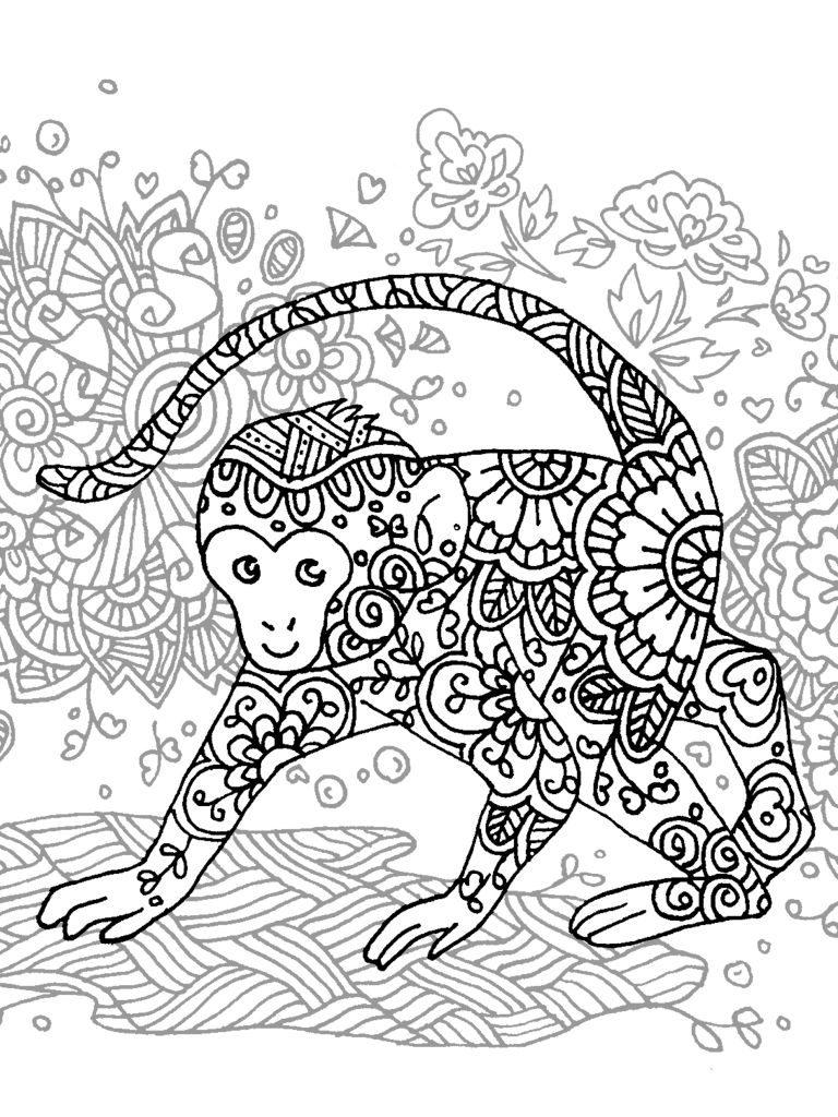 digital: Coloring - Monkey