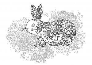 digital: Coloring - Rabbit