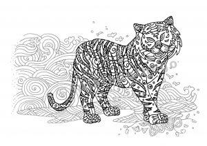 digital: Coloring - Tiger