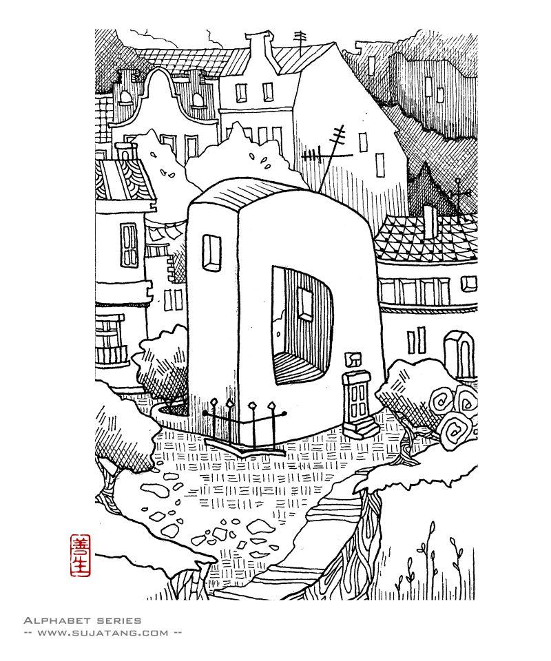 Alphabet – Letter D